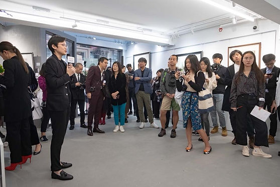 Media tour with press conferencee. The Culturist interviews Jaco Cheung at the exhibition opening.