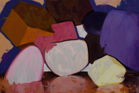 Interplay, 2021, oil on canvas, 40 x 60 cm