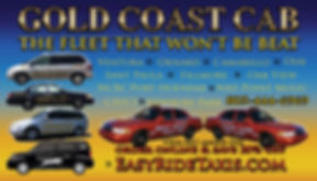 image of Gold Coast Cab Businss Card for Oak View Ca.