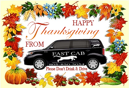 Happy Thanksgiving From Fast Cab Taxi Ve