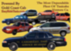 image of a fleet of taxi vans and taxi sedans working in Santa Paula California USA