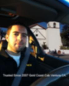 Taxi driver image in ventura on Main St. Ventura CA.