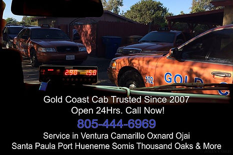 image of a taxicab driving in Ventura CA.