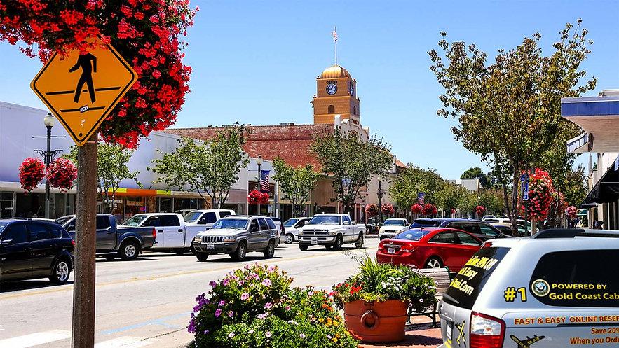 image of the city of Santa Paula CA. Dow