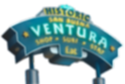 Ventura Ca, Histoirc San BuenaVentura Shp Surf Stay Eat.