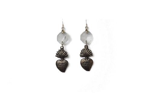 Boucles d'oreilles sacré-cœur