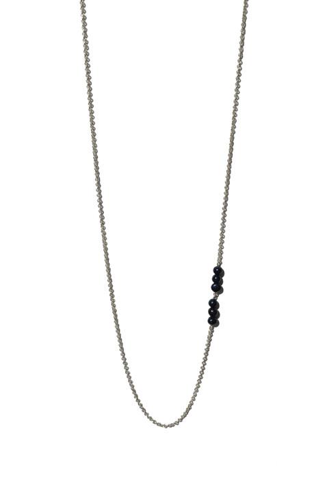 Sautoir perles noires