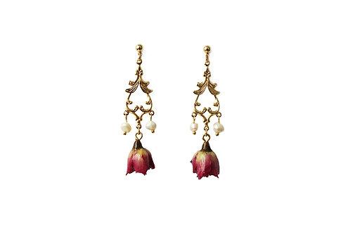 Boucles d'oreilles bouton de rose