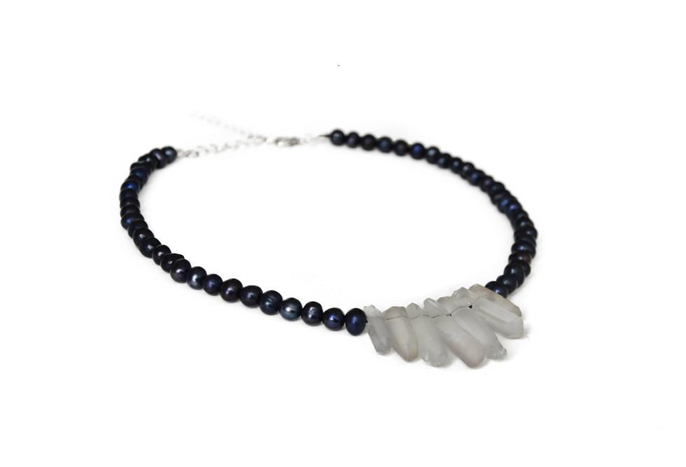 Collier perles et cristal