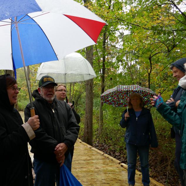 Opening of the boardwalk