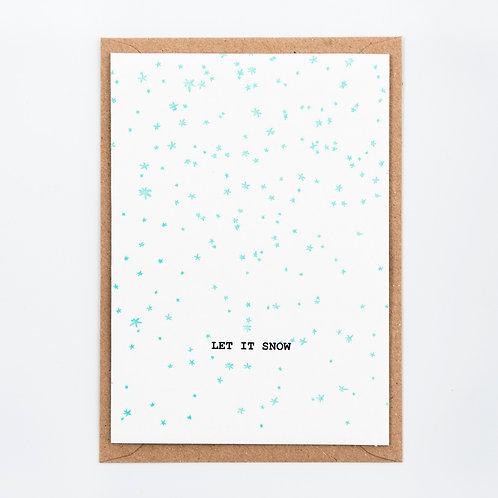Kerstkaart 'Let it snow'