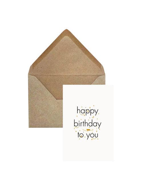 Verjaardagskaart 'Happy Birthday'