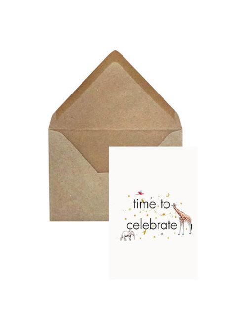Verjaardagskaart 'Time to celebrate'
