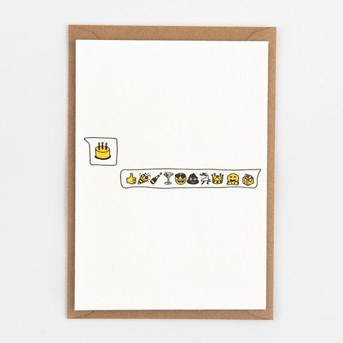 Kaart 'Birthday Emoji'