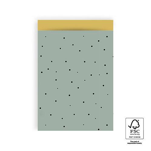 Kadozakje Green dots 17 x 25 cm