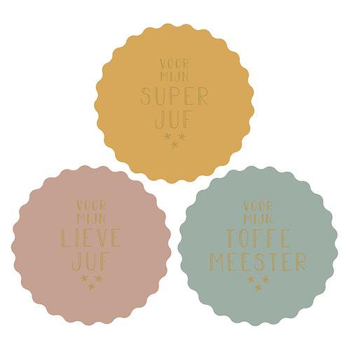 Sticker 'Voor mijn toffe meester'