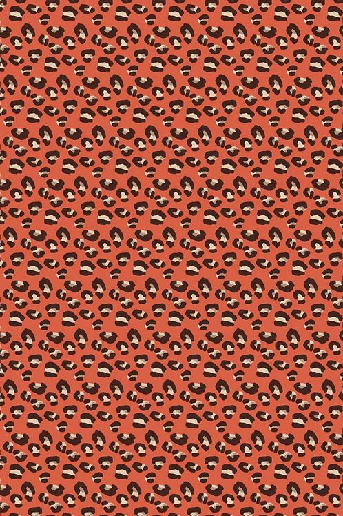 Inpakvel panterprint rood
