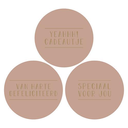 Sticker 'roze' per 3 stuks