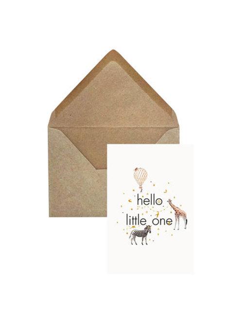 Geboortekaart 'Hello Little One'