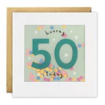 Paper Shakies 'Hooray 50 today'