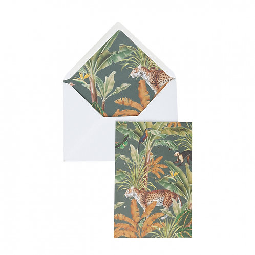 Greeting card 'Mighty Jungle' met panter