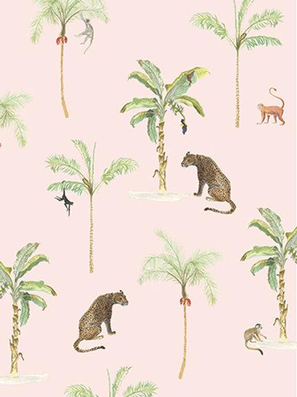 Kaart panter jungle roze