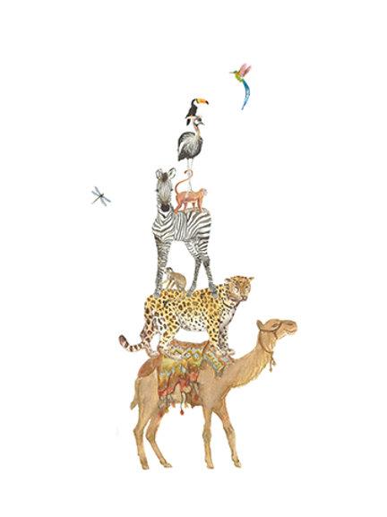 Eco ansichtkaart wilde dieren