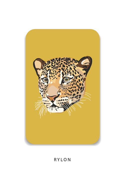 Panterkop geel minikaart