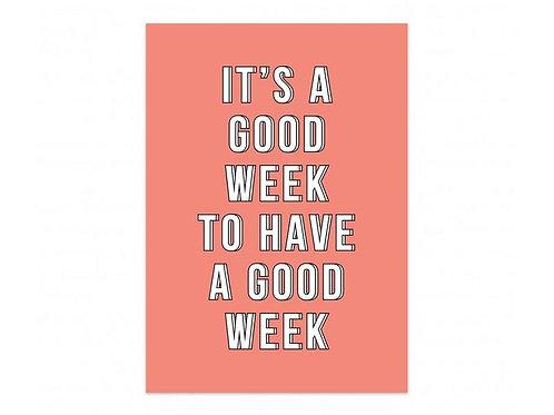 Kaart 'It's a good week'