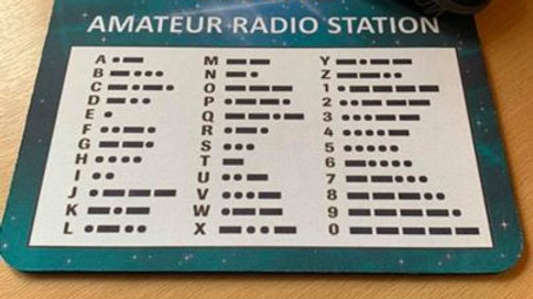Personalised Morse Code mouse mat