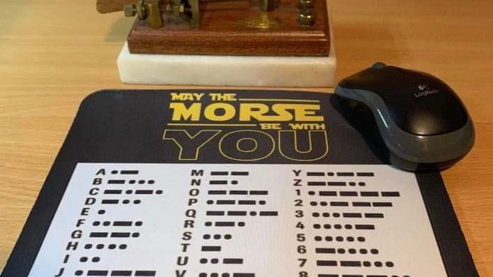 May the morse be with you mouse mat