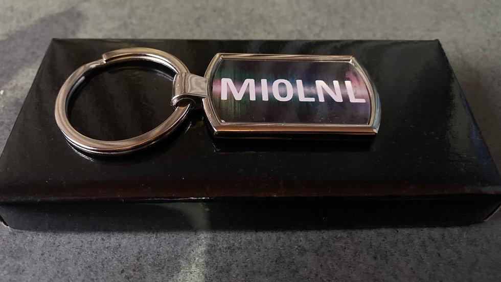Highly polished steel keyring