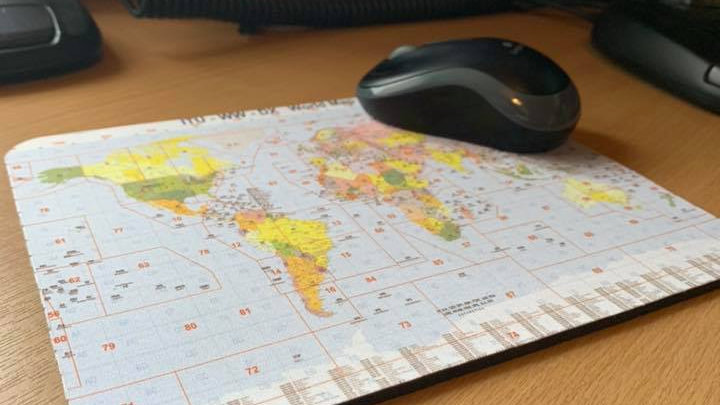 World Dx map mouse mat