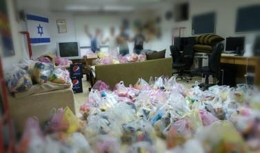 חלוקת מזון מתנדבי צהלה