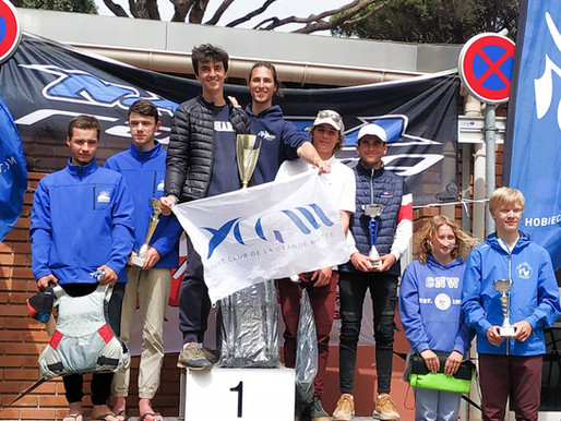 Victoire au National jeune catamaran, Mandelieu
