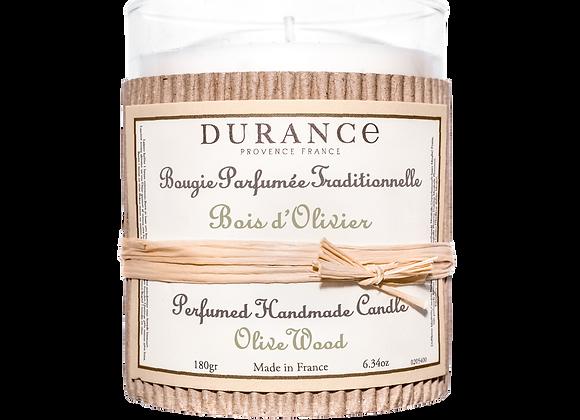 DURANCE - Bougie 180gr Bois d'Olivier