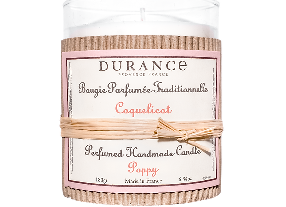 DURANCE - Bougie 180gr Coquelicot