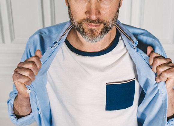 LGF - T-shirt Pacome Poche Contrastée
