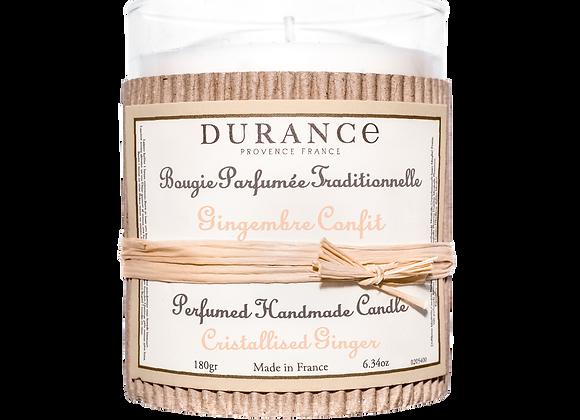 DURANCE - Bougie 180gr Gingembre Confit