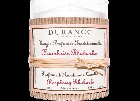 DURANCE - Bougie 180gr Framboise Rhubarbe