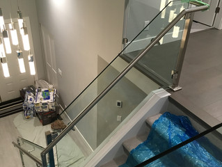 Here's an interior railing project completed in North Vancouver. Another happy home owner!