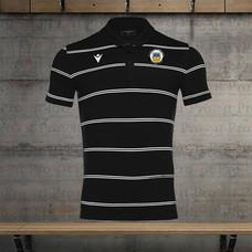 Branded leisure black striped polo shirt