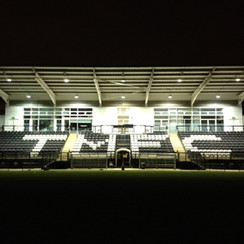 Main stand lit up