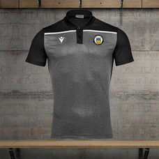 Branded black and grey polo shirt