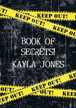 Top Secret Personalised Notebook