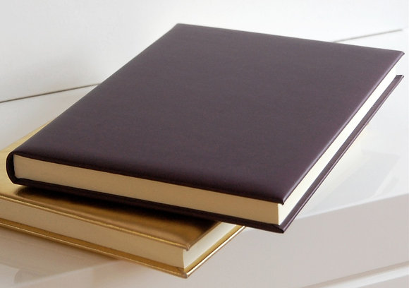 A4 Aubergine Leather Journal