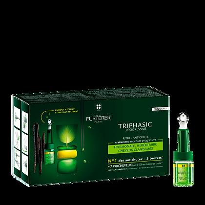 Triphasic Progressive Traitement anti-chute héréditaire, hormonale 8flac x 5,5ml