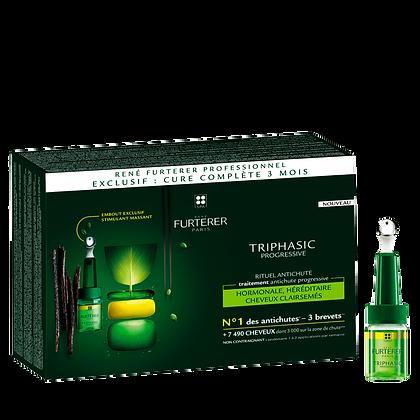 Triphasic Progressive Traitement anti-chute héréditaire,hormonale 16flac x 5,5ml