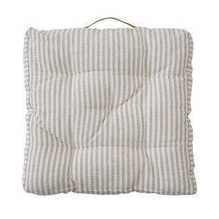 Natural Riviera Stripe Floor Cushion - 8