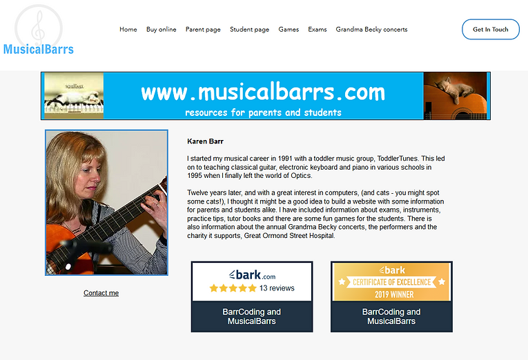 MusicalBarrs home page